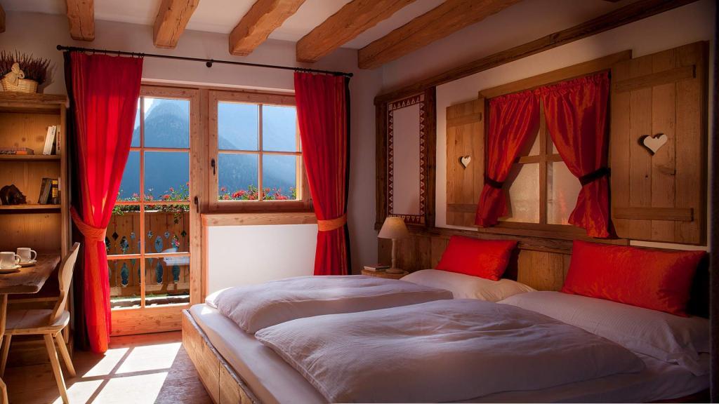 Camera Fuoco vista Dolomiti Chalet Fogajard